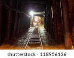 mine with railroad track  ... | Shutterstock . vector #118956136