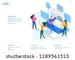 concept blogging  education ... | Shutterstock .eps vector #1189561513