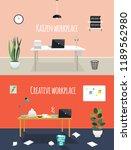 kaizen work place and creative... | Shutterstock .eps vector #1189562980