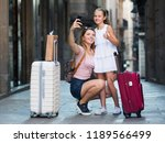 young tourists doing selfie on ... | Shutterstock . vector #1189566499