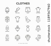 clothing thin line icons set ... | Shutterstock .eps vector #1189567960