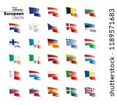 flags of the european union.... | Shutterstock .eps vector #1189571683
