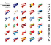 flags of the european union.... | Shutterstock .eps vector #1189571713