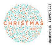 christmas concept in circle...   Shutterstock .eps vector #1189575223