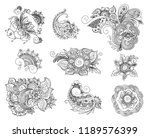vector abstract patterns of... | Shutterstock .eps vector #1189576399