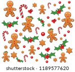 Pattern With Gingerbread  Candy ...