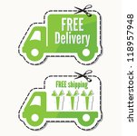 free delivery and  free... | Shutterstock . vector #118957948