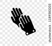wiping gloves black pair vector ... | Shutterstock .eps vector #1189583203