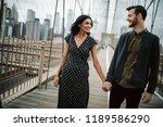 love story in new york. man...   Shutterstock . vector #1189586290