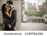 love story in new york. man and ...   Shutterstock . vector #1189586386