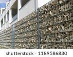 gabion fence wall | Shutterstock . vector #1189586830
