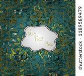 varied leaves on blue  green... | Shutterstock .eps vector #1189589479