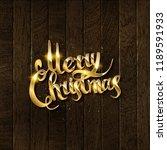 merry christmas text.... | Shutterstock .eps vector #1189591933
