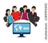 community with social media... | Shutterstock .eps vector #1189593343