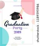 graduation party 2019... | Shutterstock .eps vector #1189595986