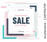 cyber monday sale template or... | Shutterstock .eps vector #1189596739