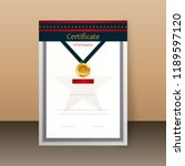 certificate of participation ...   Shutterstock .eps vector #1189597120