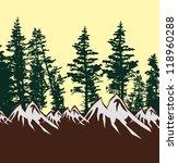 winter mountains view | Shutterstock .eps vector #118960288