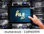 sharing file from digital touch ... | Shutterstock . vector #118960594
