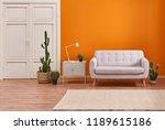 decorative orange background... | Shutterstock . vector #1189615186