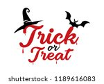 trick or treat  for halloween... | Shutterstock .eps vector #1189616083