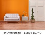 modern home decoration orange... | Shutterstock . vector #1189616740