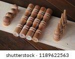 shelf wall disassembled.... | Shutterstock . vector #1189622563