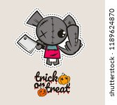halloween stitch bear zombie... | Shutterstock .eps vector #1189624870