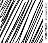 hand drawn black grunge... | Shutterstock .eps vector #1189630510