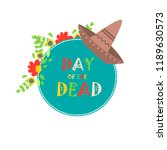 day of the dead poster  mexican ... | Shutterstock .eps vector #1189630573