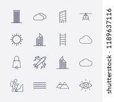 outline 16 high icon set.... | Shutterstock .eps vector #1189637116
