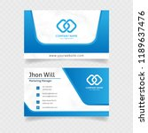 official business card in blue... | Shutterstock .eps vector #1189637476