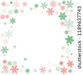 christmas corners background... | Shutterstock .eps vector #1189637743