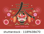 chinese happy new year creative ... | Shutterstock .eps vector #1189638670