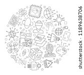 futuristic technology circle... | Shutterstock .eps vector #1189638706