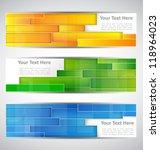set technology banners. vector... | Shutterstock .eps vector #118964023