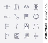 outline 16 country icon set....   Shutterstock .eps vector #1189640773