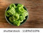 fresh bitter gourd or bitter... | Shutterstock . vector #1189651096