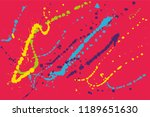 hand drawn set of colorful ink...   Shutterstock .eps vector #1189651630