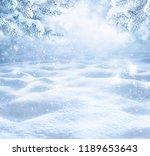 winter christmas scenic...   Shutterstock . vector #1189653643