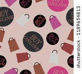 letters and shopping bags on a... | Shutterstock .eps vector #1189654813