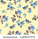 abstract seamless floral... | Shutterstock . vector #1189657573