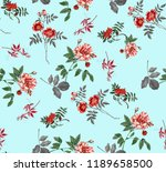 abstract seamless floral... | Shutterstock . vector #1189658500