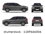 realistic suv car. front view ... | Shutterstock .eps vector #1189666006