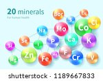 vitamins and minerals.... | Shutterstock .eps vector #1189667833
