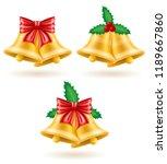 christmas gold bells vector... | Shutterstock .eps vector #1189667860