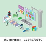 build website isometric icons... | Shutterstock .eps vector #1189670950