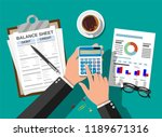 accountant with report and a... | Shutterstock .eps vector #1189671316