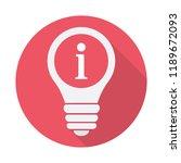 light bulb icon  idea  solution ... | Shutterstock .eps vector #1189672093