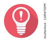 light bulb icon  idea  solution ... | Shutterstock .eps vector #1189672099